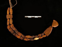 Click to enlarge image of reconstructed amber necklace