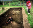 Click to enlarge image of Don Reid excavating the Ditch