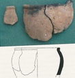 Click to enlarge image of matching sherds of Iron Age Pottery