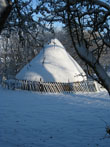 Click to enlarge image of Roundhouse in snow