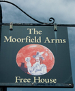 Click to enlarge image of Charles First on Inn sign of Moorlfield Arms