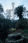 Click to enlarge image of modern equivalent Dolce Aqua cross in Italy defining border of Abbey Lands